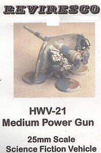 Medium Power Gun - Feldgeschütz - Zinnbausatz Starguard Science Fiction 1:72