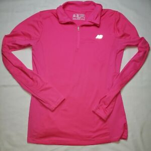 New Balance Womens Long Sleeve Pullover, Pink,Nb Dry