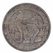 COPIA Moneta dollaro HOBO Stati Uniti 1921 FATA ZUCCHE CASTELLO diametro 3,7cm