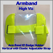 Hi Viz Armband ID Badge Holder, Door Supervisor SIA Armband