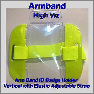 Hi Viz Armband ID Badge Holder, Door Supervisor SIA Armband