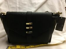 Black Purse with Gold Buckles