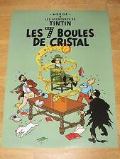 TINTIN POSTER GROSS - LES 7 BOULES DE CRISTAL / 70 x 50 cm TIM & STRUPPI NEU RAR