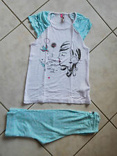 JOLI PYJAMA 2 PIECES PRINTEMPS ETE  FILLE T 8 ANS  ORCHESTRA TBE