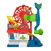 Imaginext Disney Pixar Toy Story Carnival Playset with Woody & Ducky NEW