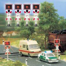 Busch HO 5913  Bahnübergang 4 Warnblinker + Schaltung  - OVP NEU