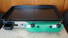 LPG Gas Griddle Hot Plate Barbecue 65x40 cm GREEN Gasgrill Stahl-Plancha