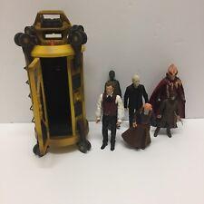 Doctor Dr Who Yellow Tardis Santan Pit Elevator BBC 2004 10 INCH X4 Figures