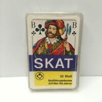 VINTAGE Playing Cards SKAT 32 Card GERMAN - COMPLETE DECK RARE European Game