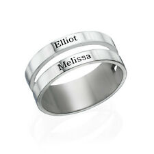 Two Name Ring in Sterling Silver - Personalized (USA Seller)