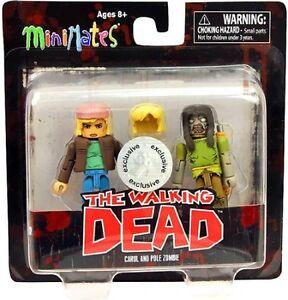 The Walking Dead Minimates figures Carol Pole Zombie Toys R Us exclusive