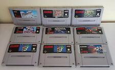 Super nintendo Games (Pal) Super Castlevania, Mario World, Div Snes Games
