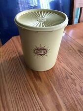 """Tupperware vintage 6 1/2"""" Canister with lid (Cookies) #807-7"""