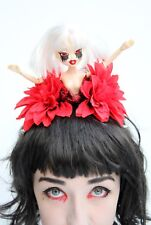 Bleeding Eyes Zombie Doll Flower Crown Headdress Goth Gothic Gobbolino Halloween