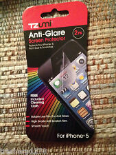 TZUMI Anti-Glare Screen Protector 2Pk for iPhone 5 NEW SEALED