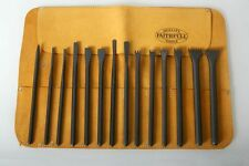 Italian Stone Carving Fire-Sharp Carbon Steel 15pc Full Chisel Set and Tool Roll