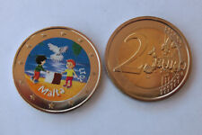 2 Euro Malta Color Frieden  Motiv 1