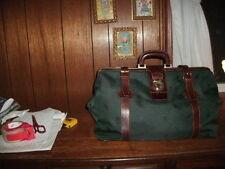 ALESSANDRO VENANZI' Jacquard Travel Satchel Forest/Walnut style #9701 BRAND NEW