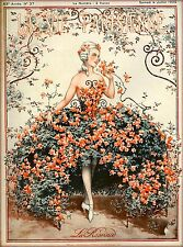 1925 La Vie Parisienne French La Roseraie France Travel Advertisement Poster