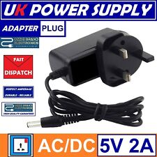 Android TV UK 3 Pin Power Adapter Charger Plug To Fit H96, Qbox Or MXQ T95 5V 2A