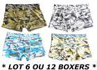 LOT 6 OU 12 - BOXER LEO HOMME GARCON SLIP CALECON COTON * Taille M L XL XXL *
