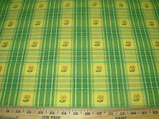 """~BTY~P KAUFMANN~""""BARNEY""""~FLOWERS EMBROIDERED~COTTON UPHOLSTERY FABRIC FOR LESS~"""
