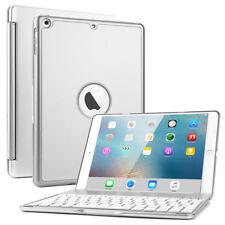 "7 Color Backlit Bluetooth Keyboard Folio Case Cover for iPad 5 Gen 9.7"" 2017 Rose Gold"