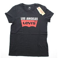 Levi Women's Lost Angeles Red Tag Graphic Short Sleeve Tee T Shirt 743090034