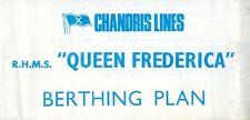 Chandris Reina Frederica Plegable Cubierta Plan - Nautiques a Todo el Mundo