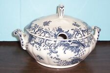 """VILLEROY & BOCH VALERIA BLUE FLOWERS SMALL SOUP TUREEN 9.75"""" X 6.5"""" NEVER USED"""
