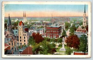 Savannah Georgia~Birds Eye View of City~Vintage Postcard