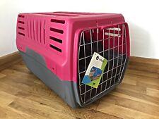 Pet Carrier Cage Dog Cat Kitten Puppy Travel Vet Transport Box Pink Grey Large