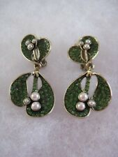 """HEIDI DAUS """"Holiday Kisses"""" Clip-On Style Mistletoe Earrings (Orig.$99.95)"""