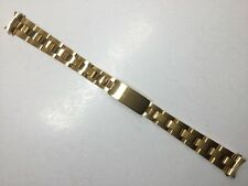 13MM GOLD SOLID HEAVY OYSTER WATCH BRACELET BAND STRAP FOR ROLEX