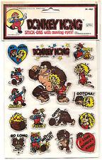 1982 DIAMOND TOYMAKERS DK-401 DONKEY KONG PUFFY STICK ONS SUPER MARIO MIP !