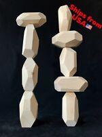 Tumi Ishi Wooden Balancing Stones - Set of 9 LARGE Rocks