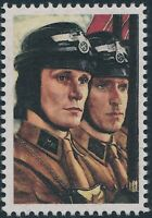 Stamp Replica Label Germany 0148 WWII Third Reich Soldier Profile NSKK MNH