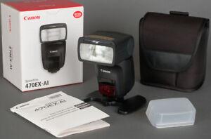 EXCELLENT Canon 470EX AI TTL Speedlite Speedlight Bounce Swivel Flash w/Warranty