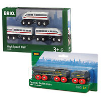 BRIO High Speed Train & Speedy Bullet Twin Pack 33697 33748 for Wooden Railway