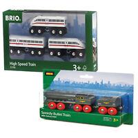 BRIO High Speed Train & Speedy Bullet Twin Pack 33697 33748 for Wooden Railway
