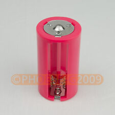 Red 3AA to D Parallel Adapter Battery Holder Convertor 3 AA/LR6 to 1 D Size 1pcs