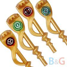 LEGO Ninjago Ninja Set/4 GOLDEN SERPENT SERPENTINE STAFFS - Gold Snake Weapon