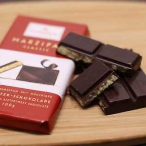 Niederegger Dark Chocolate Marzipan Bar German Lubeck Premium Almond Marzipan