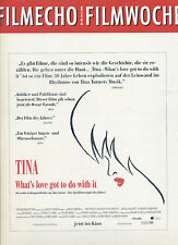 film-echo Filmwoche Nr. 36 1993 Kino Tina Turner What´s love got to do with it