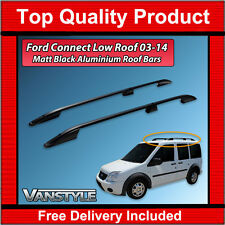 FORD TRANSIT CONNECT 2003-14 BLACK VAN ROOF RACK RAIL ALUMINIUM BARS NO DRILL