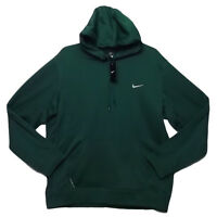 Nike Men's Therma-Fit Pine Green With Accent White Logo Hoodie NWT Size L