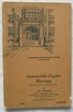 Automobile Engine Bearings C R Strouse 1945 Paperback
