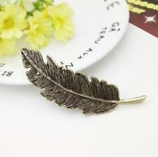 Womens Fashion Leaf Feather Hair Clip Hairpin Barrette Bobby Hairpin Accessories