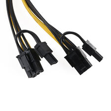 6 Pin PCI-E Module Female To Dual 8 Pin Male Video Card Power Cable Adapter