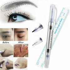 Art Lip Liner Tattoo Eyebrow Marker Pen Microblading Measuring Measure Ruler